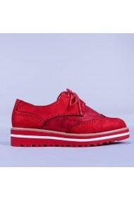 Pantofi casual dama Arabela rosii