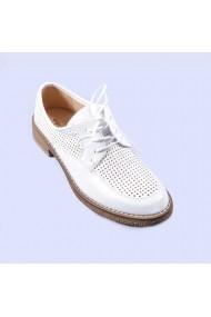 Pantofi casual dama Andra albi