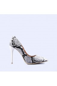 Pantofi dama Delia albi