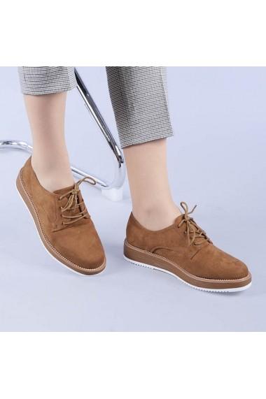 Pantofi casual dama Camelia camel