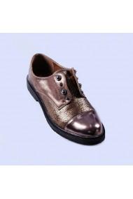 Pantofi casual dama Mirela bronz