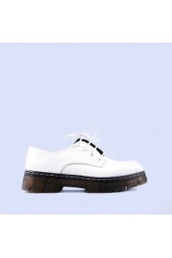 Pantofi casual dama Iris albi