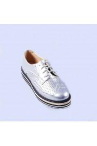 Pantofi casual dama Laura argintii