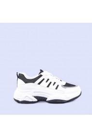 Pantofi sport dama Aleena albi cu negru