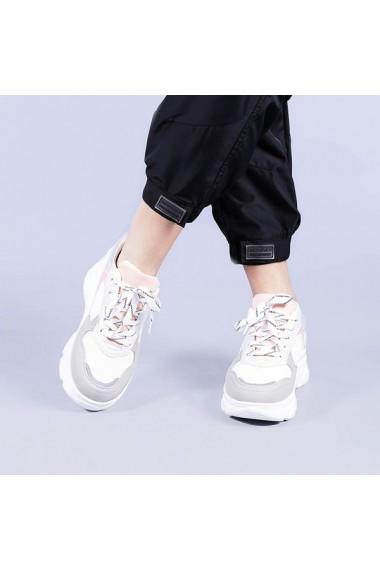 Pantofi sport dama Leticia albi cu albastru