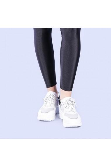 Pantofi sport dama Leticia albi cu negru