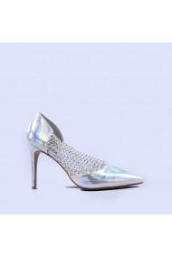 Pantofi dama Meda argintii