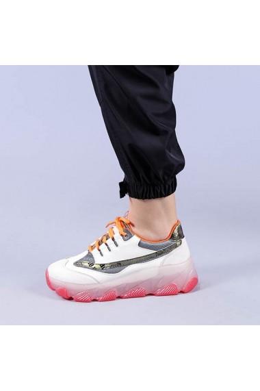 Pantofi sport dama Amalia albi