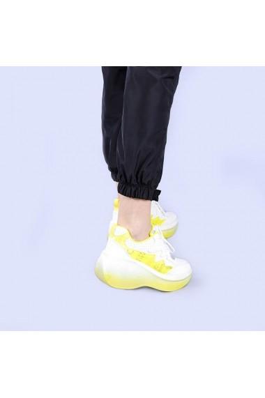 Pantofi sport dama Sabah galbeni