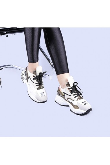 Pantofi sport dama Petrina albi