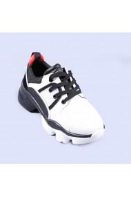 Pantofi sport dama Nalini albi cu negru