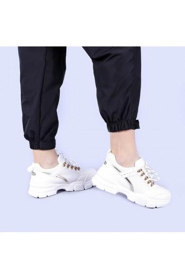 Pantofi sport dama Malini albi