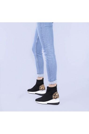 Pantofi sport dama Haven negri leopard