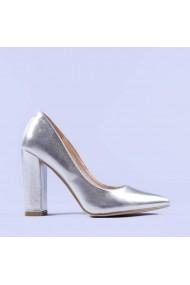 Pantofi dama Clare argintii