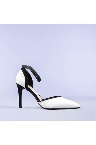 Pantofi dama Carola albi