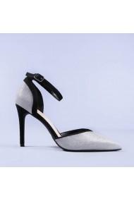 Pantofi dama Carola argintii