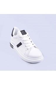 Pantofi sport dama Bridge albi cu negru