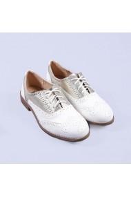 Pantofi casual dama Delores albi