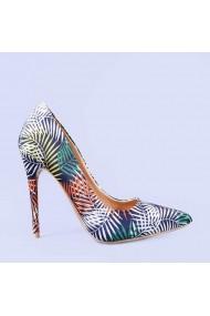 Pantofi stiletto Fathia verzi
