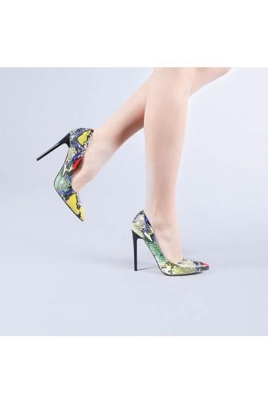 Pantofi stiletto Catalina multicolor