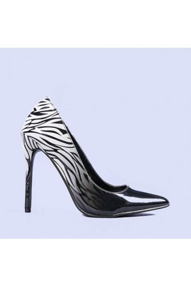 Pantofi stiletto Lucinda albi