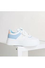 Pantofi sport dama Slow alb cu bleu