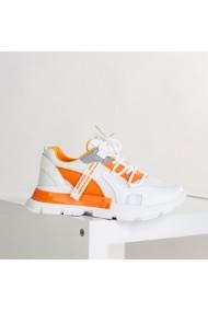 Pantofi sport dama Mondy alb cu portocaliu