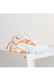 Pantofi sport dama Dazia alb cu portocaliu