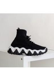 Pantofi sport dama Irisa negru cu alb