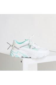 Pantofi sport dama Dazia alb cu verde
