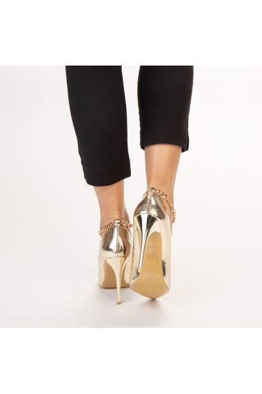 Pantofi dama Delir aurii
