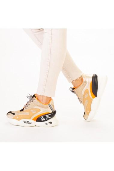 Pantofi sport dama Doreta bej multicolor