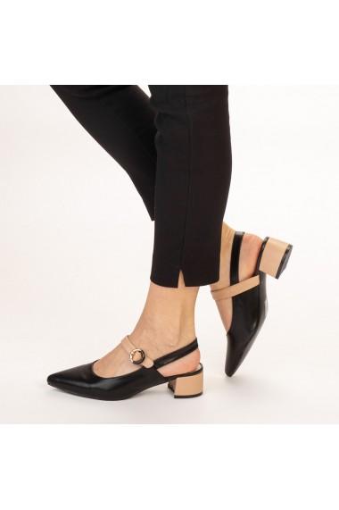 Pantofi dama Safar negri cu bej