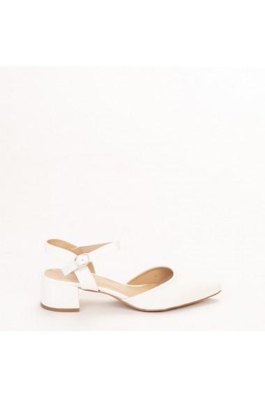 Pantofi dama Leela albi