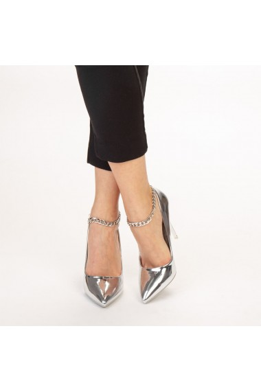 Pantofi dama Delir argintii