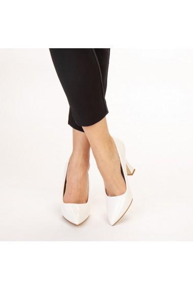 Pantofi dama Wanda albi