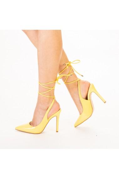 Pantofi dama Davina galbeni