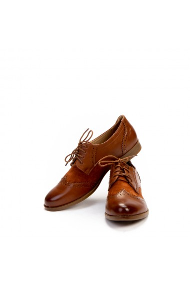 Pantofi dama casual Claire camel