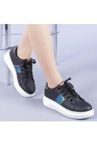 Pantofi sport casual dama Jimena negru cu gri