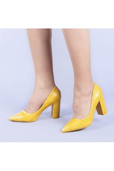 Pantofi dama Aura galbeni