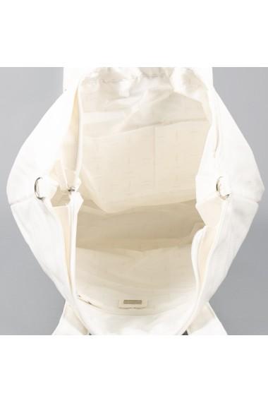 Geanta dama Carpisa Alba material textil