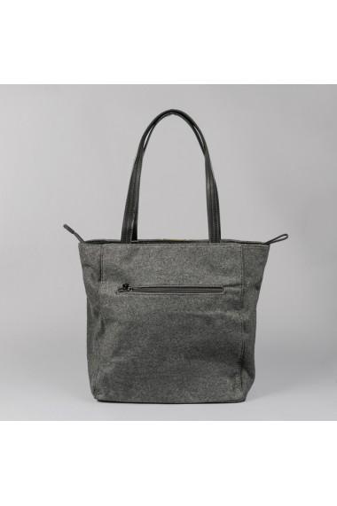 Geanta dama Carpisa Gri material textil