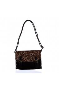 Geanta dama Ines Delaure Leopard piele ecologica