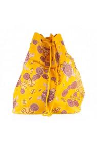 Geanta dama Carpisa Galbena material textil