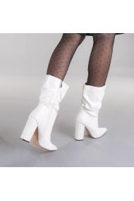 Cizme dama Grama albe