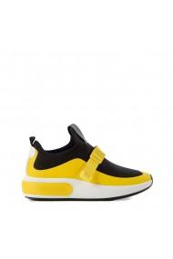 Pantofi sport dama Deep negri cu galben