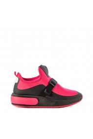 Pantofi sport dama Deep negri cu fucsia