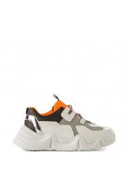 Pantofi sport dama Boony albi cu portocaliu