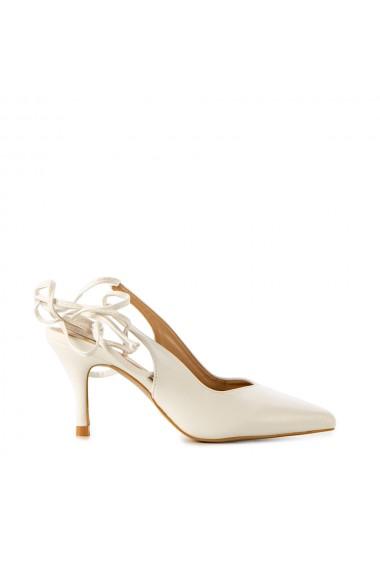 Sandale dama Daisy albe