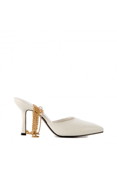 Sandale dama Chain albe